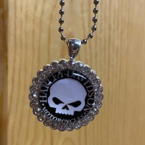 New Ladies Harley Davidson BLING Necklace